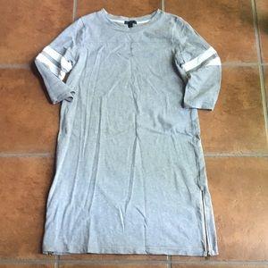 J. Crew 3/4 sleeve grey knit dress size Small